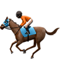 Horse Racing: Dark Skin Tone on Apple iOS 11.3
