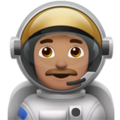 Man Astronaut: Medium Skin Tone on Apple iOS 11.3