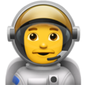 Man Astronaut on Apple iOS 11.3