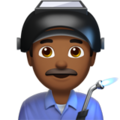Man Factory Worker: Medium-Dark Skin Tone on Apple iOS 11.3