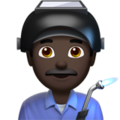 Man Factory Worker: Dark Skin Tone on Apple iOS 11.3