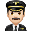 Man Pilot: Light Skin Tone on Apple iOS 11.3