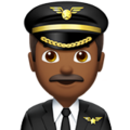 Man Pilot: Medium-Dark Skin Tone on Apple iOS 11.3