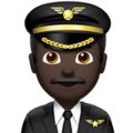 Man Pilot: Dark Skin Tone on Apple iOS 11.3