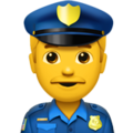 Man Police Officer on Apple iOS 11.3