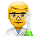 Man Scientist on Apple iOS 11.3