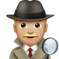 Man Detective: Medium-Light Skin Tone on Apple iOS 11.3