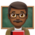 Man Teacher: Medium-Dark Skin Tone on Apple iOS 11.3