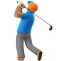 Man Golfing: Medium Skin Tone on Apple iOS 11.3
