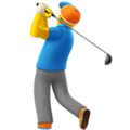 Man Golfing on Apple iOS 11.3