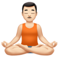 Man in Lotus Position: Light Skin Tone on Apple iOS 11.3