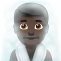 Man in Steamy Room: Dark Skin Tone on Apple iOS 11.3