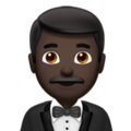 Man in Tuxedo: Dark Skin Tone on Apple iOS 11.3