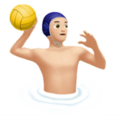 Man Playing Water Polo: Light Skin Tone on Apple iOS 11.3