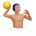 Man Playing Water Polo: Medium-Light Skin Tone on Apple iOS 11.3
