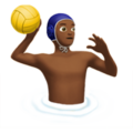 Man Playing Water Polo: Medium-Dark Skin Tone on Apple iOS 11.3