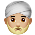 Man Wearing Turban: Medium-Light Skin Tone on Apple iOS 11.3