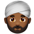 Person Wearing Turban: Medium-Dark Skin Tone on Apple iOS 11.3