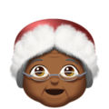 Mrs. Claus: Medium-Dark Skin Tone on Apple iOS 11.3