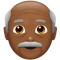 Old Man: Medium-Dark Skin Tone on Apple iOS 11.3