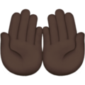 Palms Up Together: Dark Skin Tone on Apple iOS 11.3