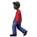 Person Walking: Dark Skin Tone on Apple iOS 11.3