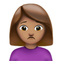 Person Frowning: Medium Skin Tone on Apple iOS 11.3