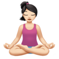 Person in Lotus Position: Light Skin Tone on Apple iOS 11.3