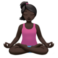 Person in Lotus Position: Dark Skin Tone on Apple iOS 11.3