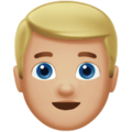 Blond-Haired Person: Medium-Light Skin Tone on Apple iOS 11.3