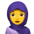 Woman With Headscarf on Apple iOS 11.3