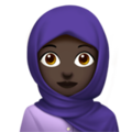 Person With Headscarf: Dark Skin Tone on Apple iOS 11.3