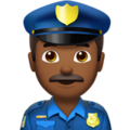 Police Officer: Medium-Dark Skin Tone on Apple iOS 11.3