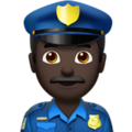 Police Officer: Dark Skin Tone on Apple iOS 11.3