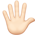 Hand With Fingers Splayed: Light Skin Tone on Apple iOS 11.3