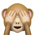 See-No-Evil Monkey on Apple iOS 11.3