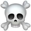 Skull and Crossbones on Apple iOS 11.3