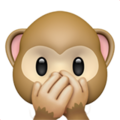 Speak-No-Evil Monkey on Apple iOS 11.3