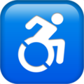 Wheelchair Symbol on Apple iOS 11.3