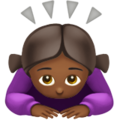 Woman Bowing: Medium-Dark Skin Tone on Apple iOS 11.3
