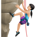 Woman Climbing: Light Skin Tone on Apple iOS 11.3