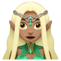 Woman Elf: Medium Skin Tone on Apple iOS 11.3