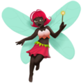 Woman Fairy: Dark Skin Tone on Apple iOS 11.3