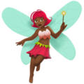 Woman Fairy: Medium-Dark Skin Tone on Apple iOS 11.3