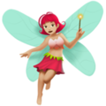 Woman Fairy: Medium-Light Skin Tone on Apple iOS 11.3