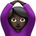 Woman Gesturing OK: Dark Skin Tone on Apple iOS 11.3