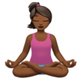 Woman in Lotus Position: Medium-Dark Skin Tone on Apple iOS 11.3