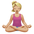 Woman in Lotus Position: Medium-Light Skin Tone on Apple iOS 11.3
