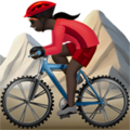 Woman Mountain Biking: Dark Skin Tone on Apple iOS 11.3