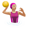 Woman Playing Water Polo: Medium-Light Skin Tone on Apple iOS 11.3